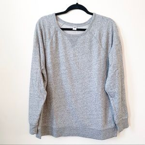 Grey Crew Pullover // Old Navy